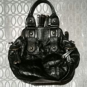 HYPE  authentic black leather bag